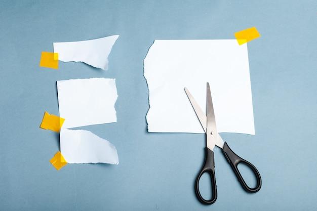 Zettel und klebeband