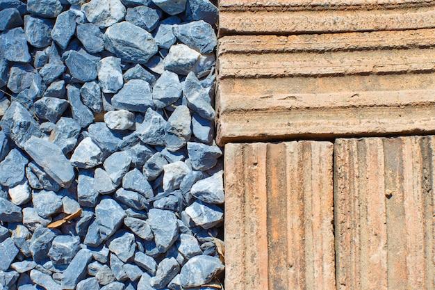 Ziegel mit steinboden