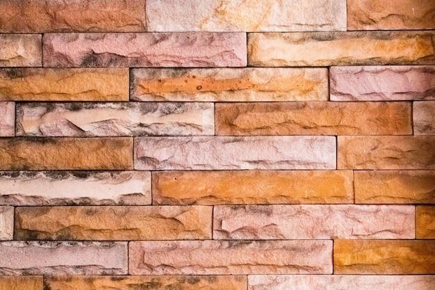 Ziegel und stein zu kreativer textur und muster