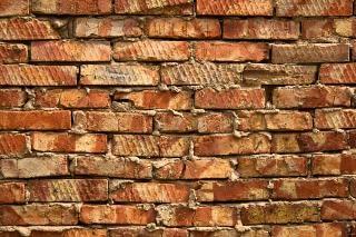 Ziegelmauer gefliest