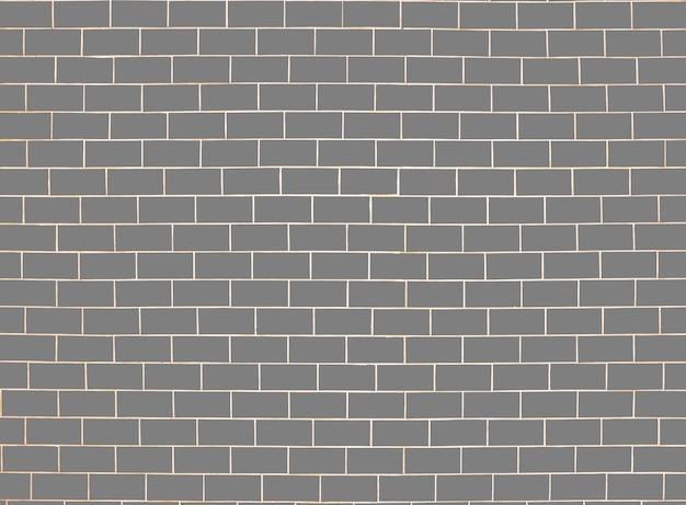 Ziegelwandmuster. grauer oberflächenhintergrund. blöcke und zementbau. abstrakte mauerwerk textur. illustration musterdesign
