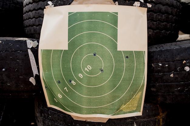 Ziel für das schießen im handumdrehen