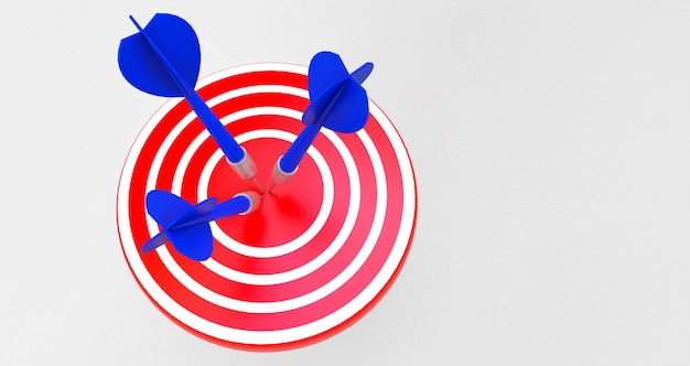 Ziel mit einem pfeil in der mitte. konzept der objektiven erreichung.