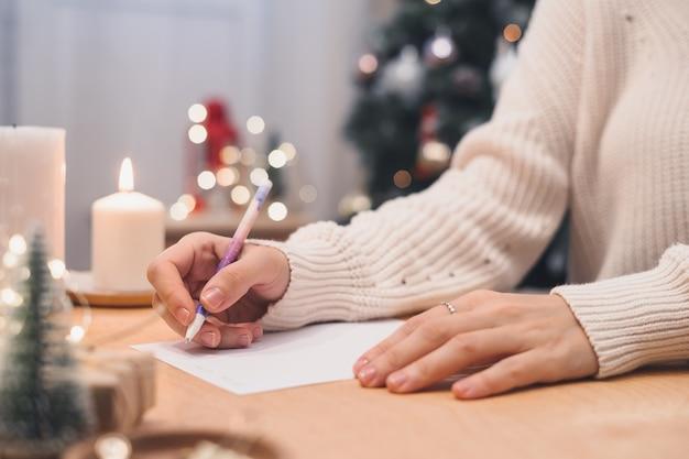Ziele pläne zu tun und wunschliste für neujahr weihnachten