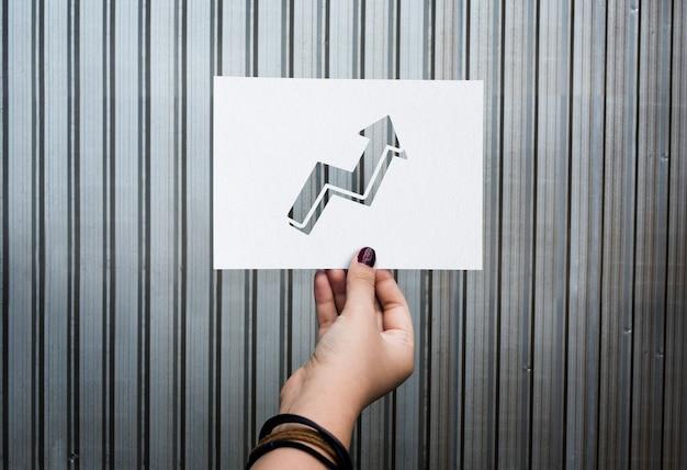 Ziele zielaspiration perforiertes papierdiagramm