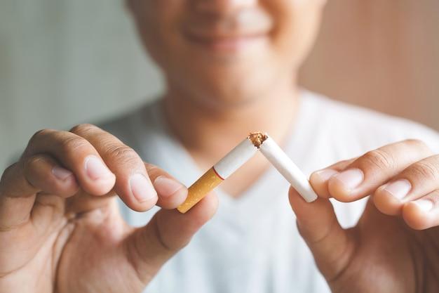 Zigarette abbrechen. aus dem suchtkonzept aussteigen.