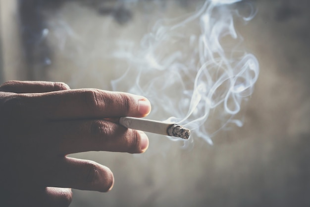 Zigaretten mit weichzeichnerhintergrund sind dunkel.