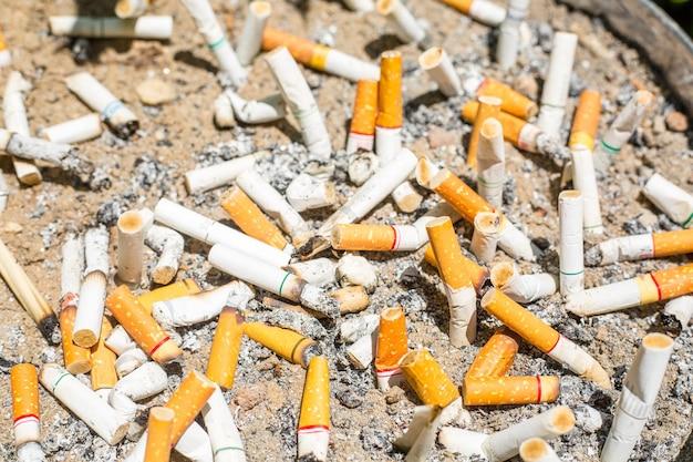 Zigarettenfiltertextur für rauchstopp.
