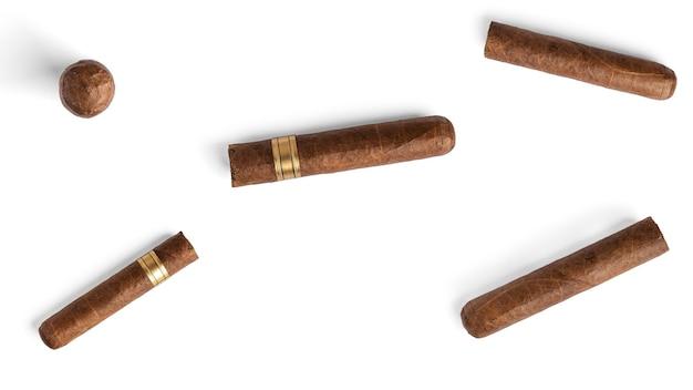 Zigarre isoliert auf weiß.