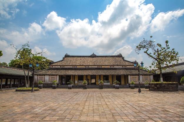 Zitadelle, kaiserlicher königspalast, verbotene stadt in hue, vietnam