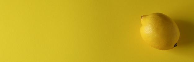 Zitrone auf gelb