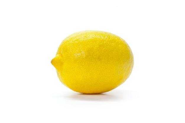 Zitrone, isoliert auf weiss
