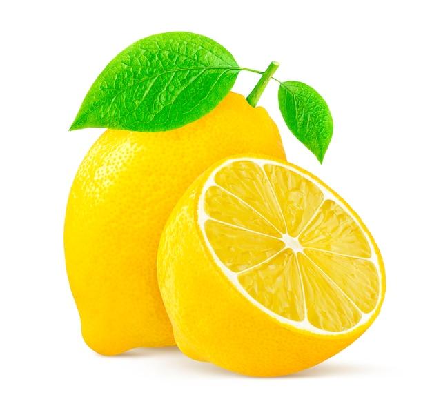 Zitronen, isoliert auf weiss