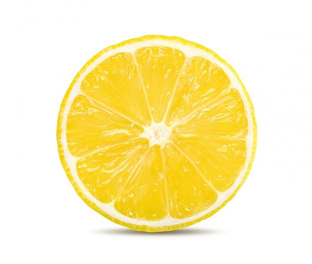 Zitronenscheibe isoliert auf einem weißen raum