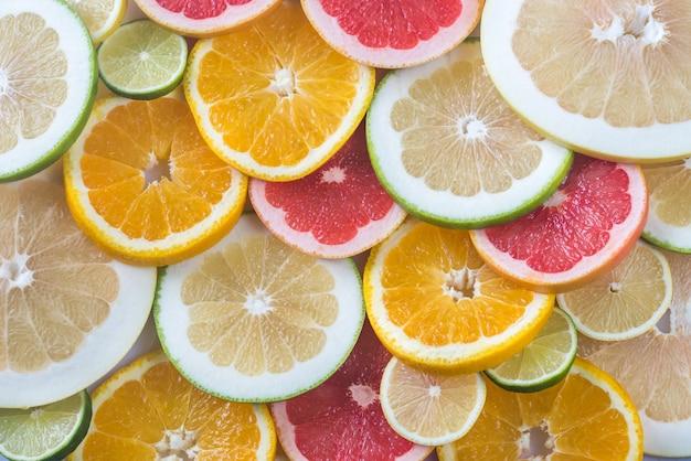 Zitrusfruchtscheiben: draufsicht