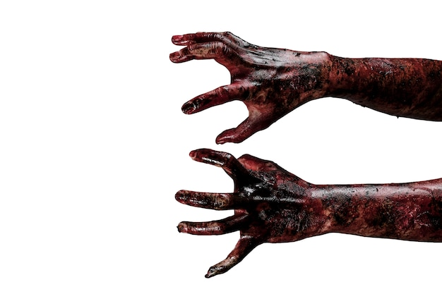 Zombie-hand halloween-thema-konzept.