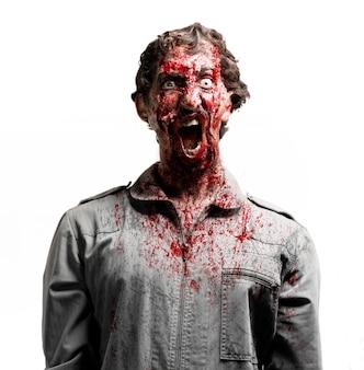 Zombie mit blut bedeckt