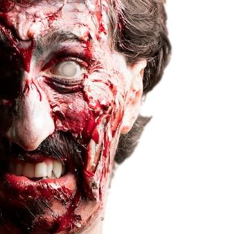 Zombie mit einem weißen auge