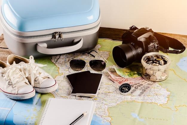 Zubehör für die reise
