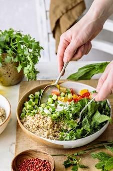 Zubereitung einer pflanzlichen rezeptidee
