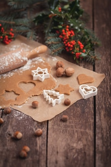 Zubereitung von weihnachtserdnusskeksen