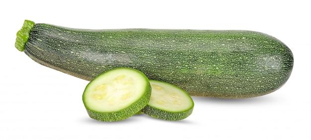Zucchini isoalted auf weiß mit beschneidungspfad