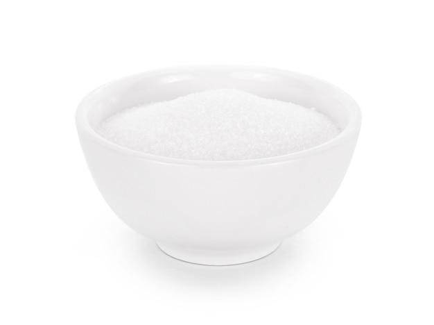 Zucker isoliert auf weißem hintergrund.