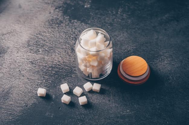 Zuckerglas-hochwinkelansicht