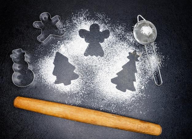 Zuckerpulver oder mehl für kekse