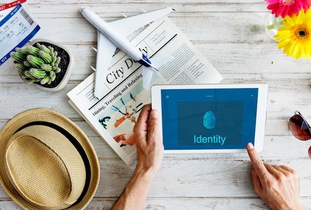 Zugangsverbindung internet-technologiekonzept