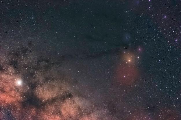 Zugeschnittenes bild der milchstraße