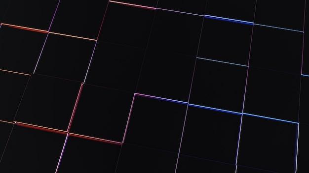 Zukünftiger abstrakter dunkler heller hintergrund für tapete