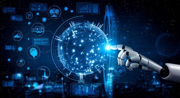 Zukünftiger armroboter für künstliche intelligenz