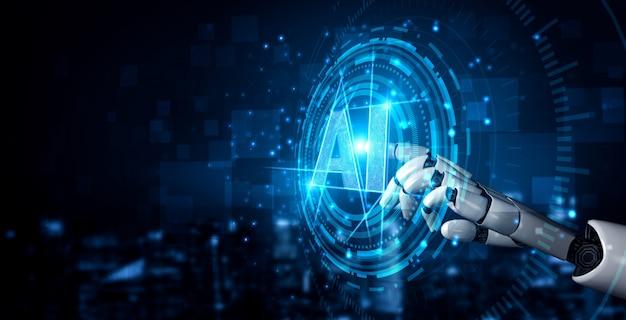 Zukünftiger roboter für künstliche intelligenz