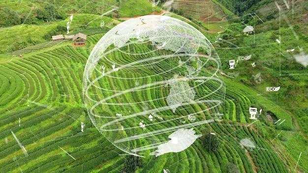 Zukünftiger umweltschutz und nachhaltige esg-modernisierungsentwicklung