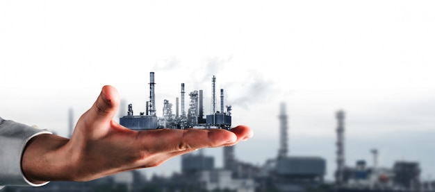 Zukünftiges fabrik- und energiewirtschaftskonzept.