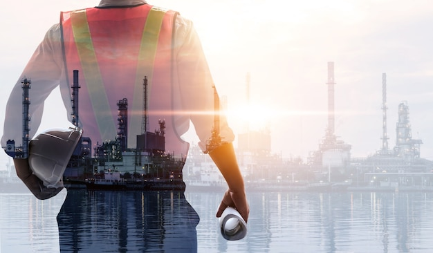 Zukünftiges konzept der fabrik- und energiewirtschaft.