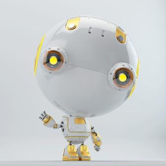 Zukunftsrobotercharakter in 3d