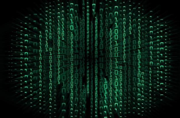 Zukunftstechnologie-konzepthintergrund der grünen binären cyber-schaltung