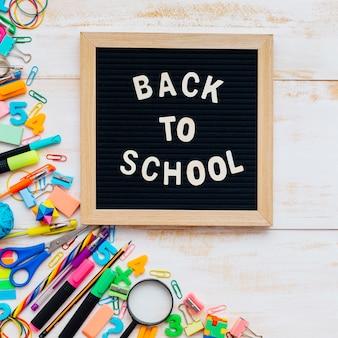 Zurück zu Schulstilllebenzusammensetzung