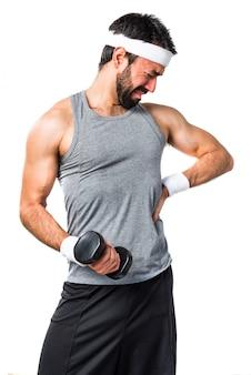 Zurück lustig fit bodybuilding barbell