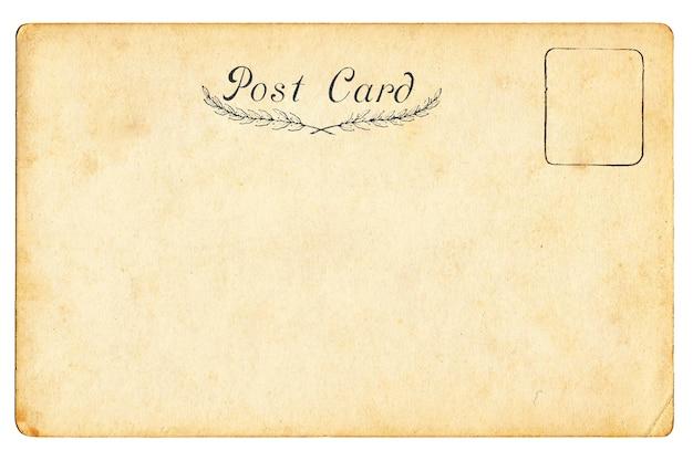 Zurück von der leeren postkarte der weinlese