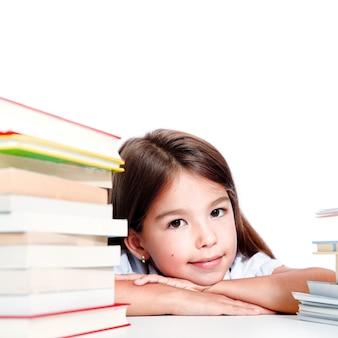 Zurück zur schule! konzept der bildung, des lesens und des lernens.