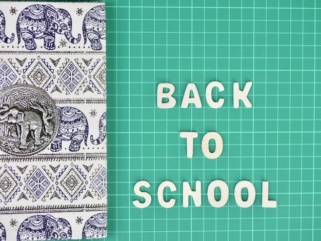 Zurück zur schule, notizbuchpapier