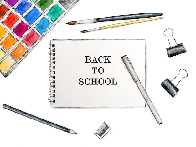 Zurück zur schule. schöne zeichnung.