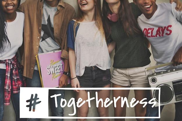 Zusammen können wir freundschaft verbinden
