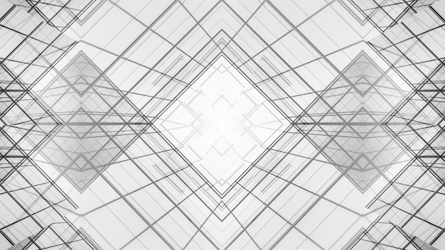 Zusammenfassung der architektur von geometrie am glasfensterhintergrund.