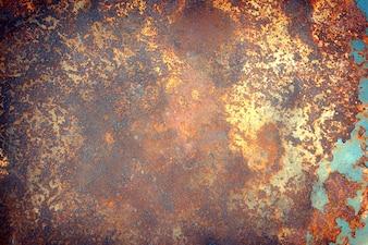Zusammenfassung erzeugter strukturierter Rostmetalloberflächenhintergrund