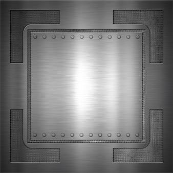 Zusammenfassung hintergrund mit einem metallischen design