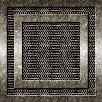 Zusammenfassung hintergrund mit grunge-metall-texturen
